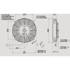 WENTYLATOR SPAL VA14-AP7/C-34A 190mm 12V