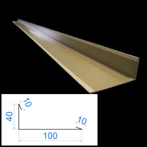 Profil L zewnętrzny 10x40x100x10mm