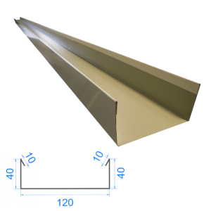 Profil C ceownik 10x40x120x40x10mm