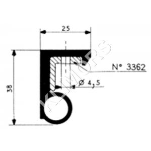 KĄTOWNIK TYP 3362 MOCUJĄCY USZCZELKĘ 3350 - dł. 3,40 mb